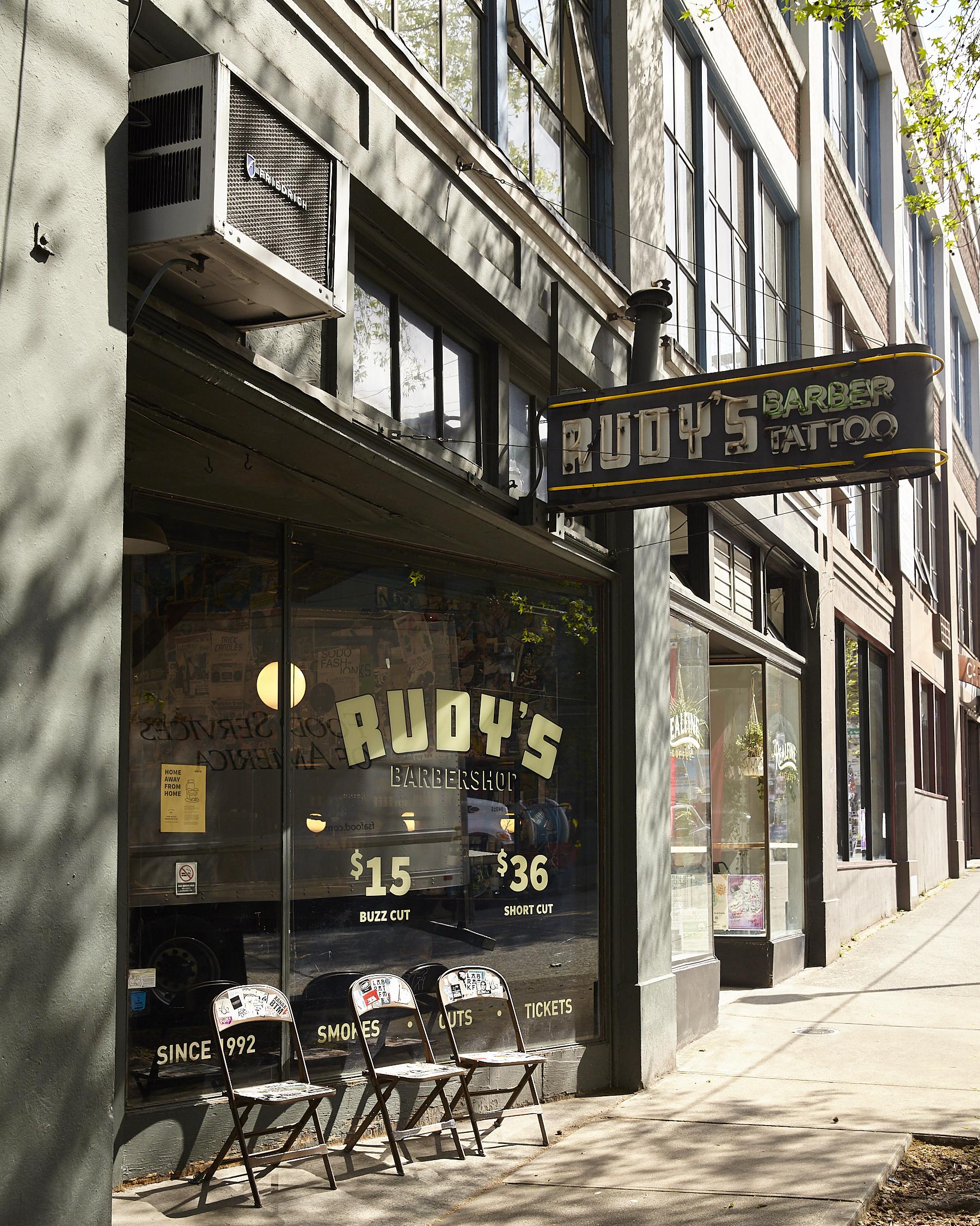 Rudy's Barber Shop, Seattle, Washington