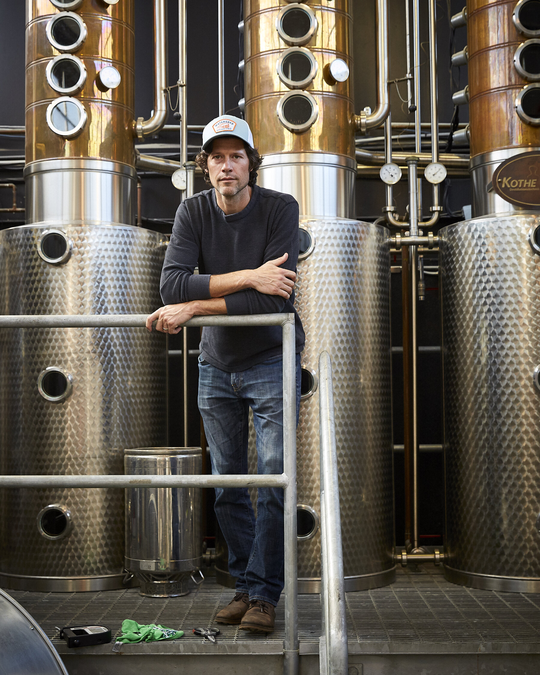 Greg Lehman, Co-Founder of Watershed Distillery. Photographed for The New York Times.
