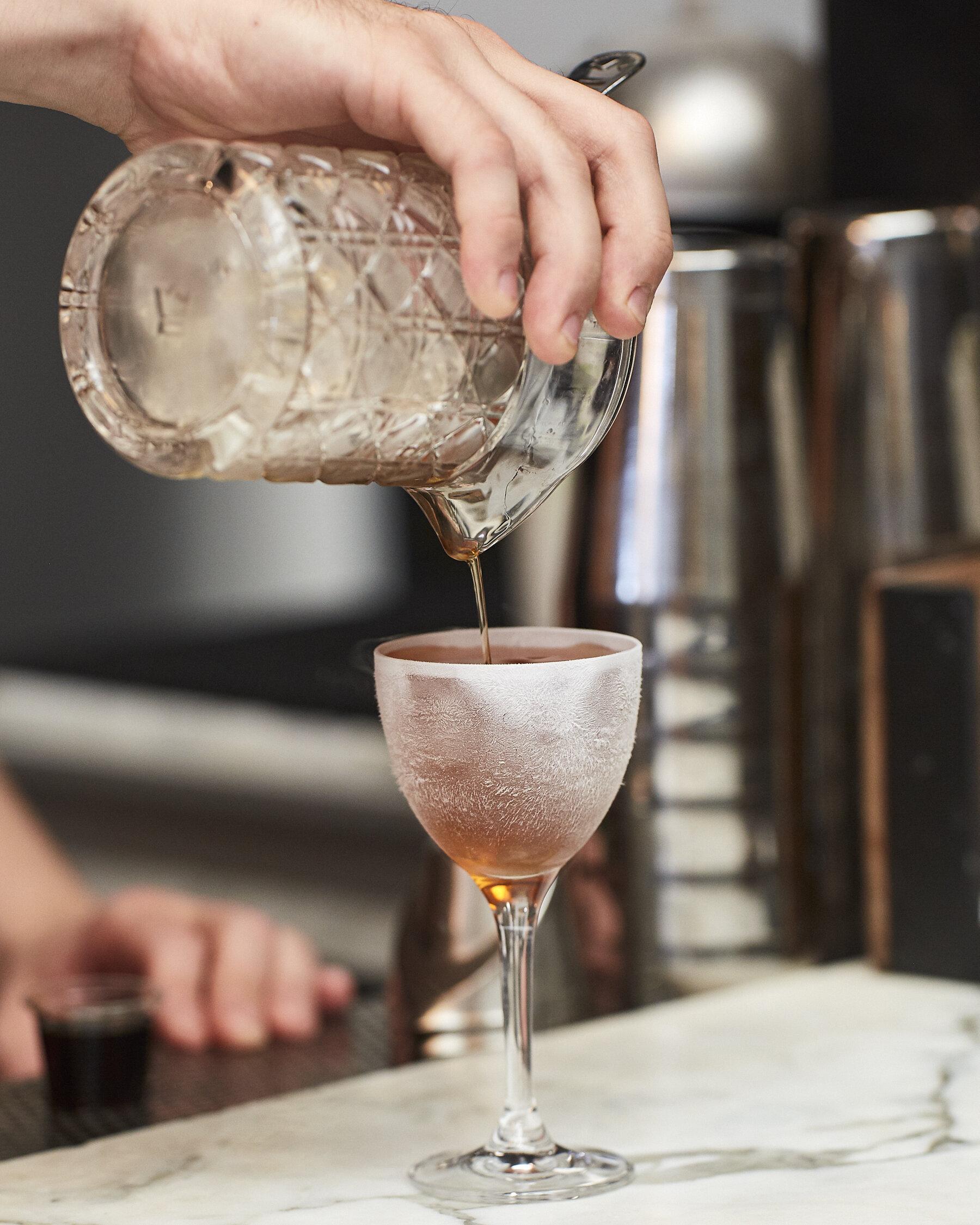 Cocktail at Service Bar.