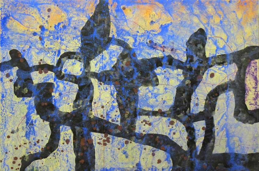 Sense títol,  122 x 85 cms. Pintura sobre tela, 2011.