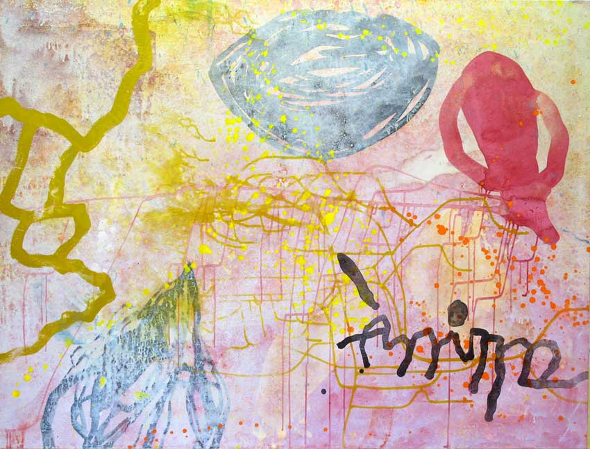 Sense títol,  210 x 152 cms. Pintura sobre tela 2010.