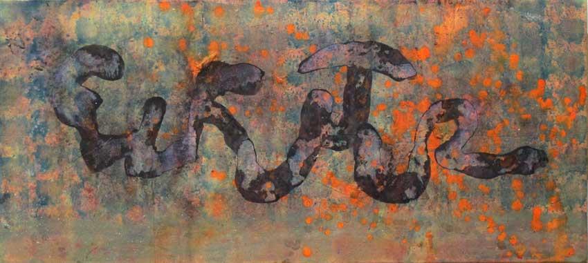 Sense títol,  150 x 65 cms. Pintura sobre tela, 2011.