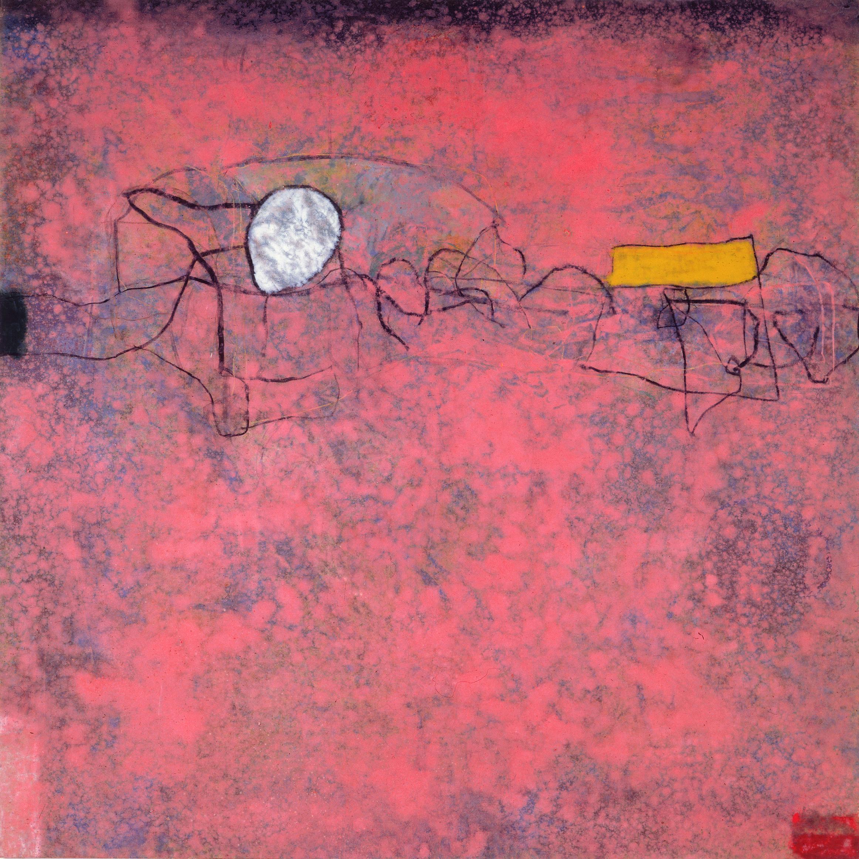 Sense títol,  oli i carbó sobre tela, 200 x 200 centímetres, 1989
