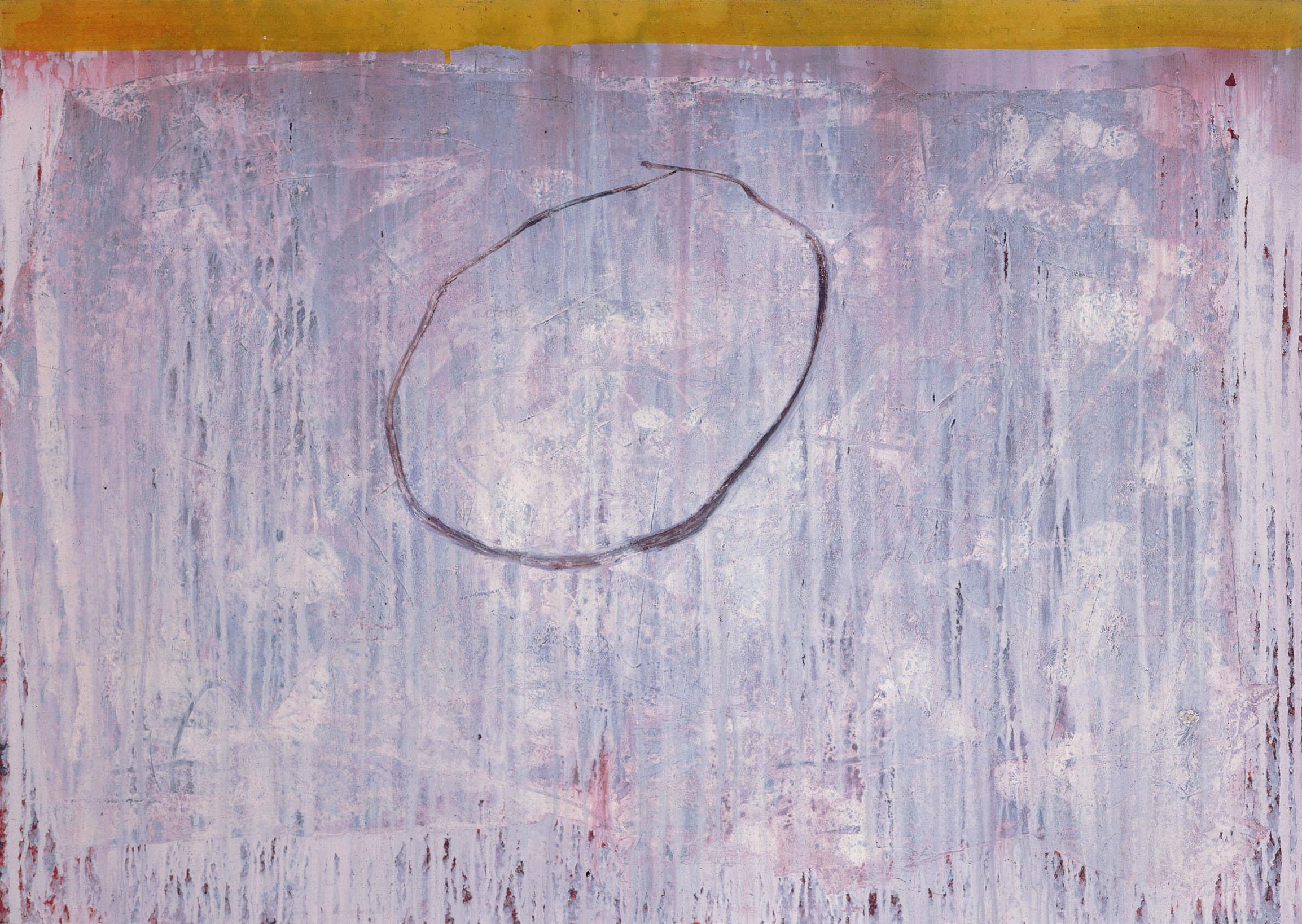 Sense títol  , pintura sobre paper Velin BFK, 120 x 80 centímetres. 1989