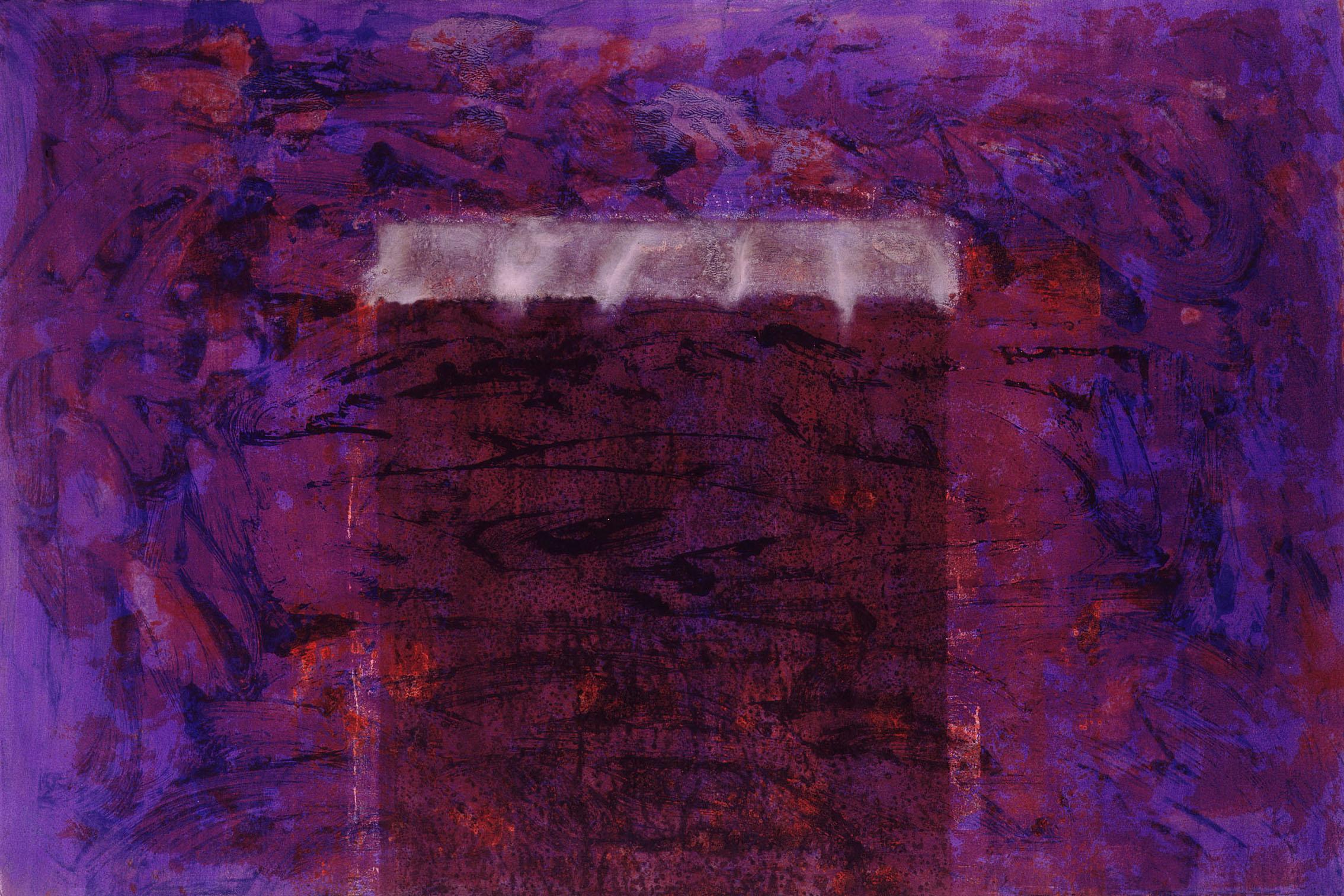 Sense títol  , pintura sobre paper Velin BFK, 120 x 80 centímetres. 1991