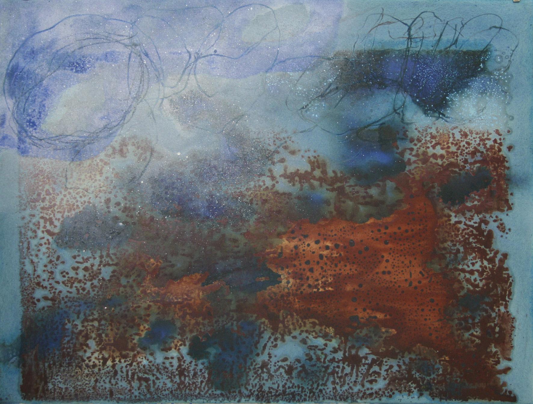 Sense títol  , pintura sobre paper Pur fil Johannot, 76 x 54 centímetres. 2008