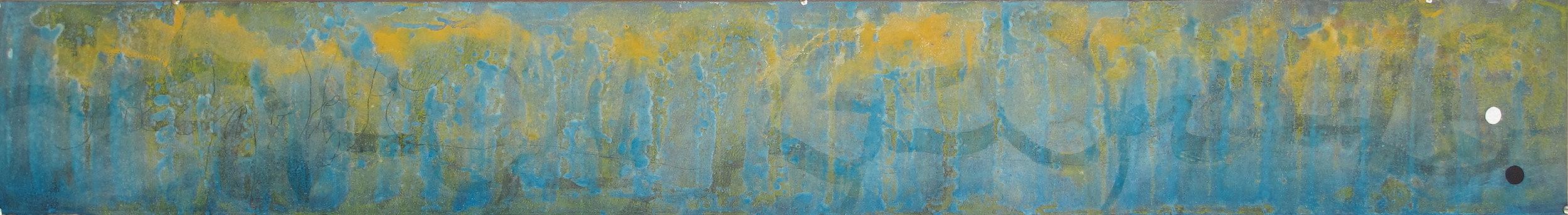 Sense títol  , pintura sobre paper Velin Arches, 198 x 28 centímetres. 2011