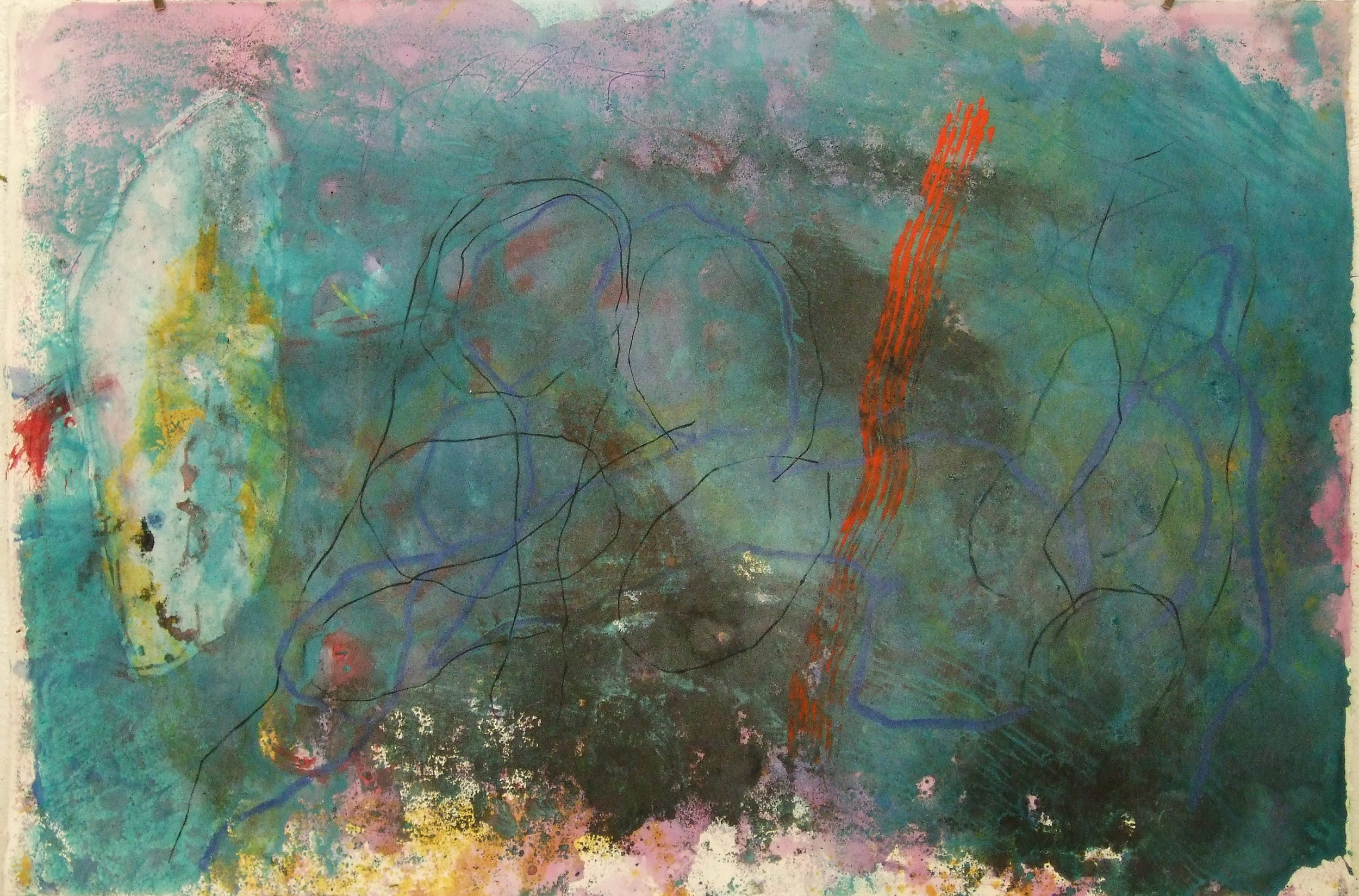 Sense títol  , pintura sobre paper Velin Arches, 198 x 28 centímetres. 2010
