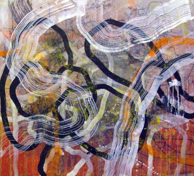 Sense títol,  pintura sobre tela, 150 x 150 centímetres, 2010