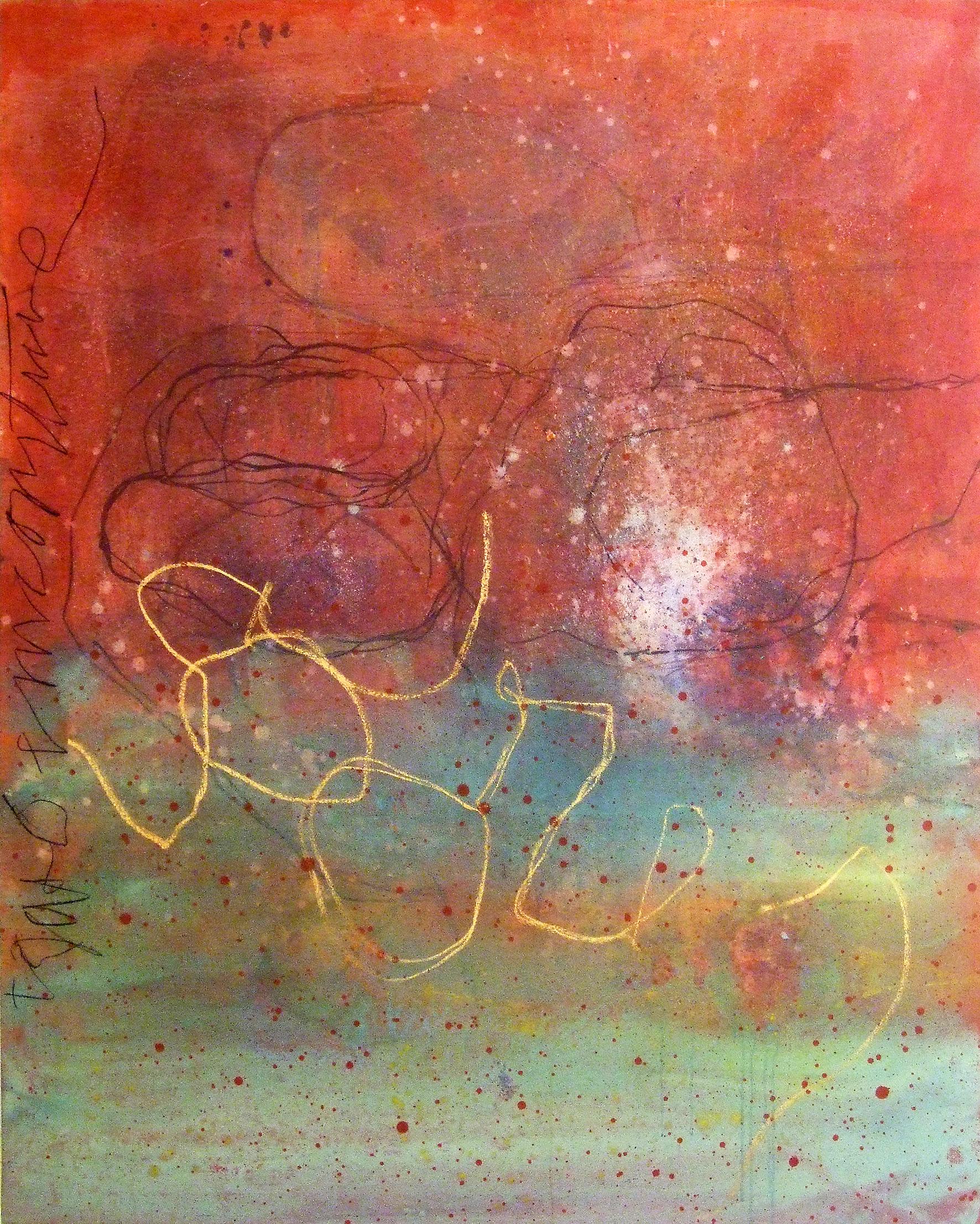 Sense títol,  pintura, pastell i carbó sobre tela, 185 x 155 centímetres, 2011