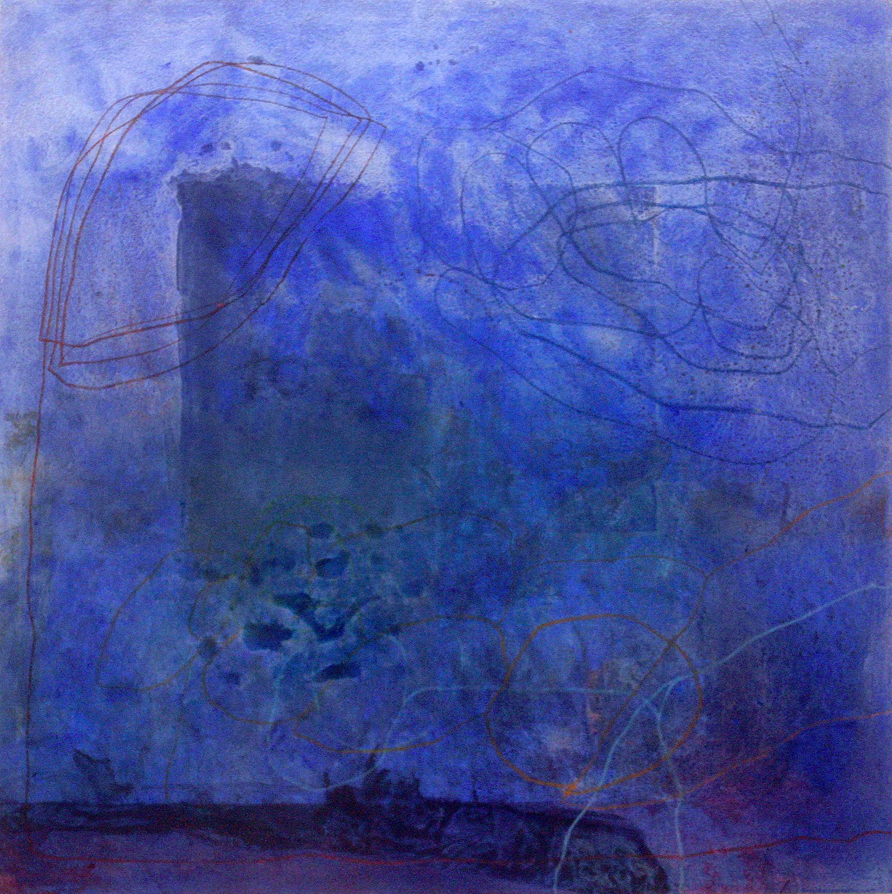 Sense títol,  pintura, pastell i carbó sobre tela, 130 x 130 centímetres, 2011