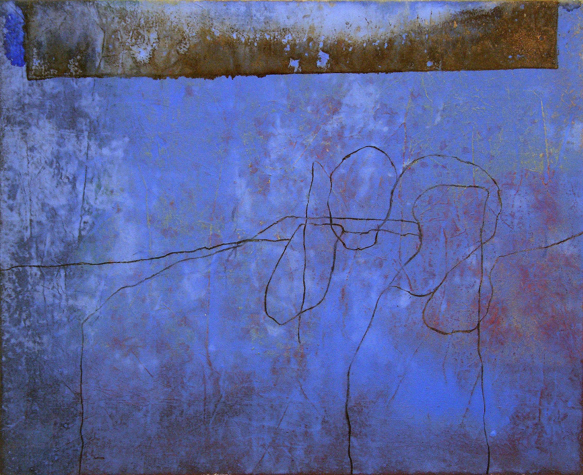 Sense títol,  pintura i carbó sobre tela, 130 x 155 centímetres, 2008
