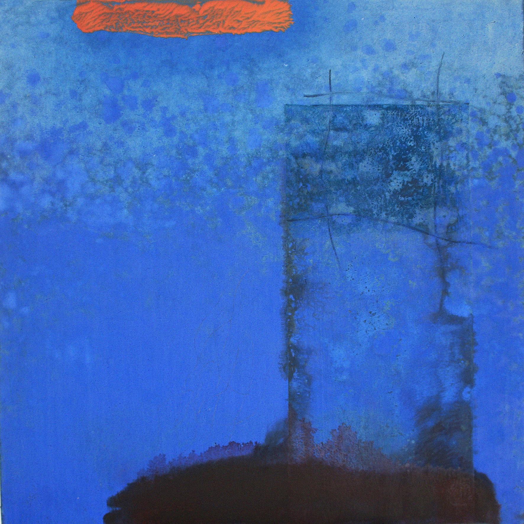 Sense títol,  pintura, pastell i carbó sobre tela, 130 x 130 centímetres, 2008