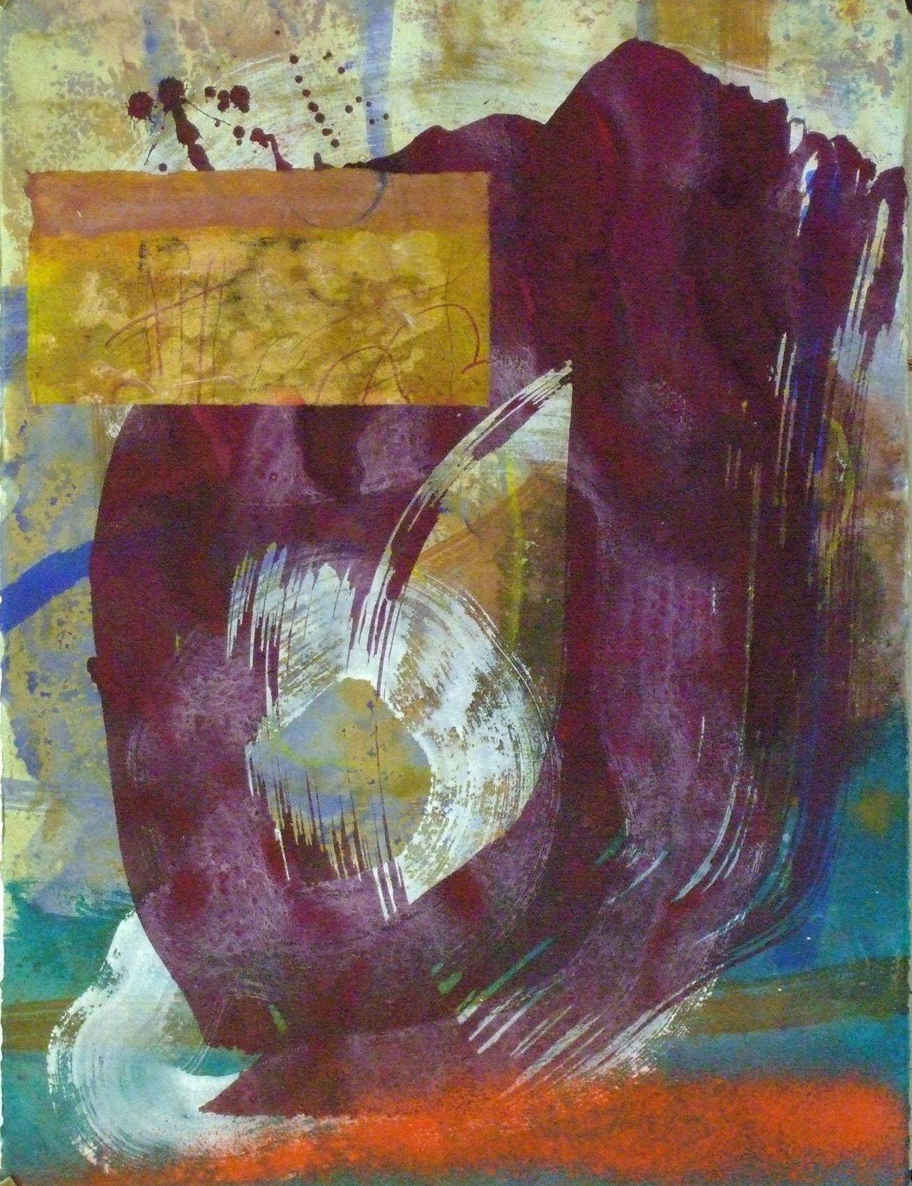 Sense títol  , pintura sobre paper Pur fil Johannot, 76 x 54 centímetres. 2009