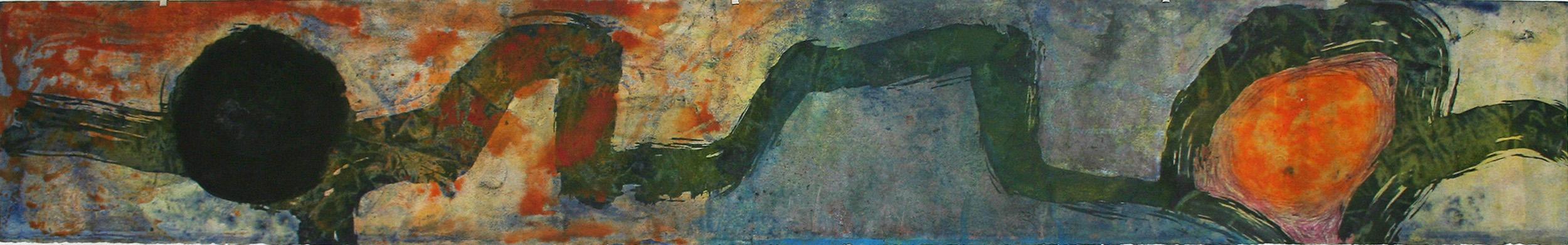 Sense títol  , pintura sobre paper Velin Arches, 198 x 28 centímetres. 2008