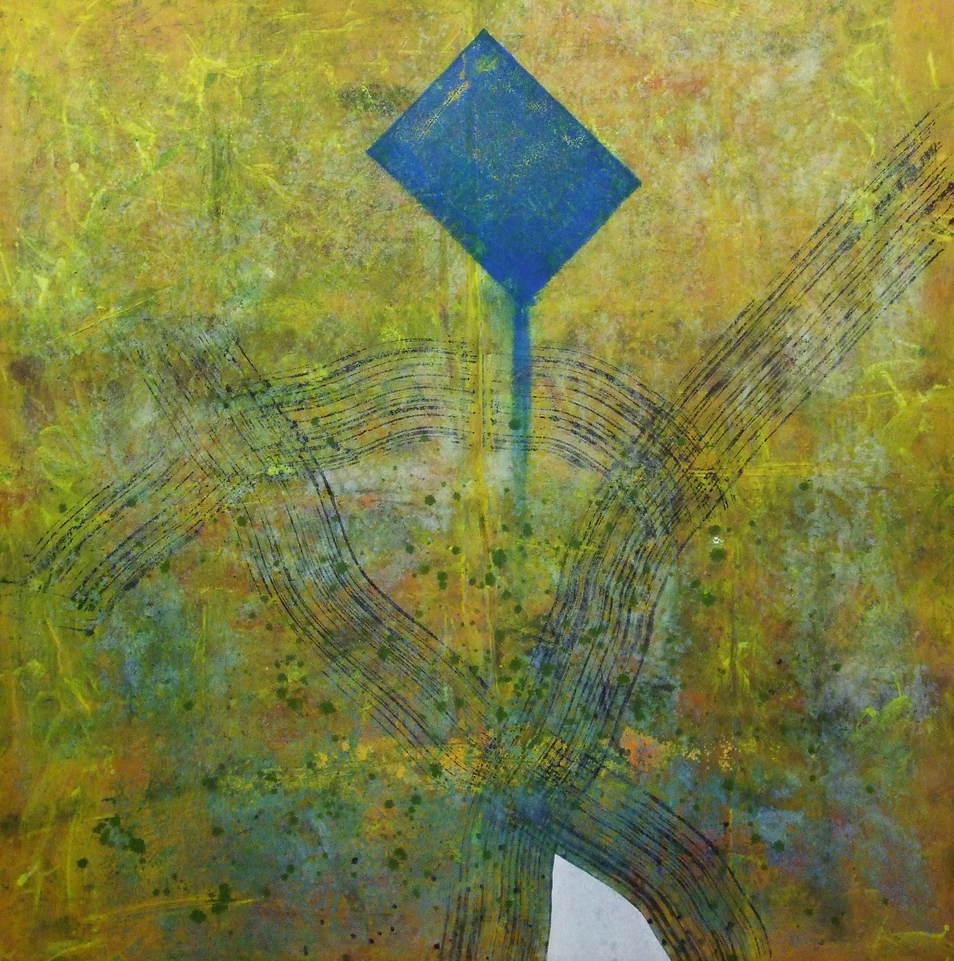 Sense títol,  pintura sobre tela, 150 x 155 centímetres, 2009