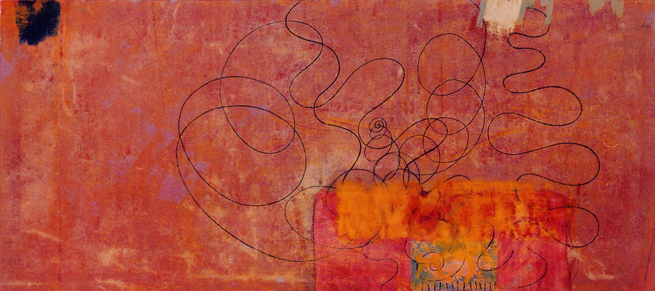 Sense títol,  pintura sobre tela, 95 x 200 centímetres 1994