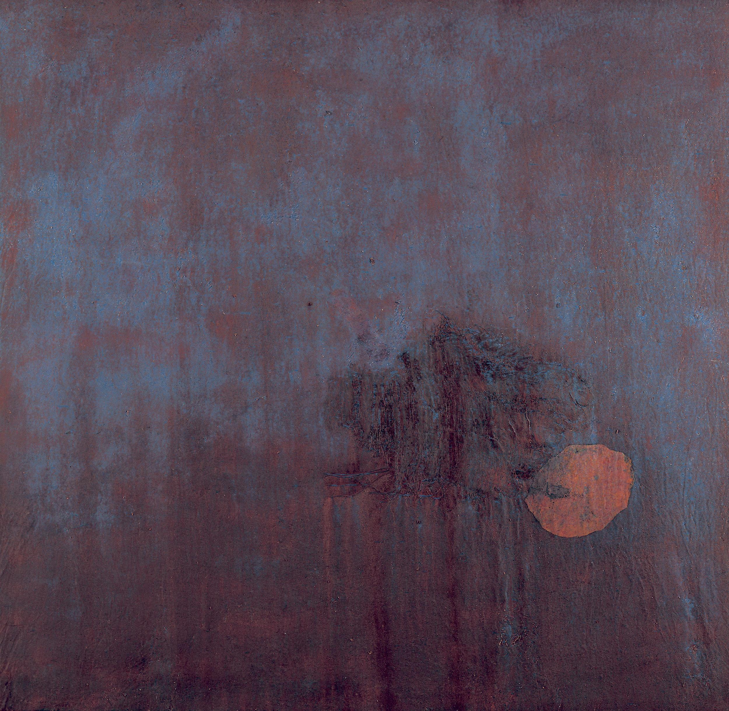 Sense títol,  pintura sobre tela, 130 x 130centímetres 1996