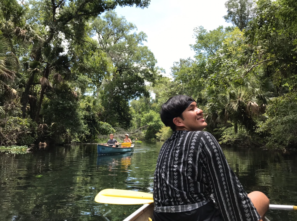 This picture was taken on 4th july, 2019 (the American Independence day). I travelled to the national park Wekiwa Springs with some of my friends at my work place. We decided to jump on the kayak and sail to explore the nature and the river which alligators and marine lives exist. It was so amazing and exiting at the same time because all of us needed to be observent around for the alligators swam near by. We took the ride on the river for 4 hours slept, ate, sang, and had a nice talk there on the kayak. It was a nice trip in of the month because I had a chance to Interchange the cultures, perspectives, and ideas with people from different places and backgrounds. Apart from the river, we also went to hike along the natural trails in the forest and finally found the place for camping which will be our next trip destination. Can't wait for it!!! I will keep these memories in my heart forever. Thx.  Hirunrat Somdoung / SWT / Myrtle Beach, SC