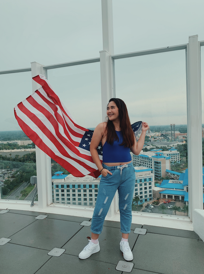 I got to wear everything I want without thinking others will say. I feel to be young and free and enjoy life the way I want it. I really do enjoy 4th of July.  Michelle Joy Paz / APT / Orlando, FL