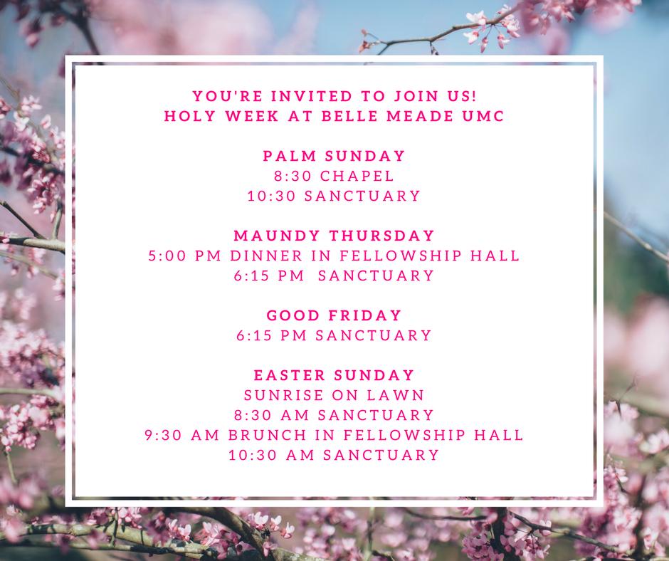 Holy Week Easter