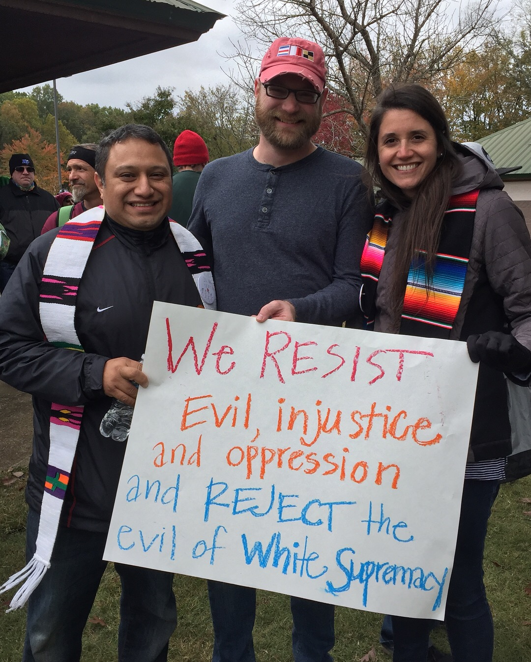 As United Methodists, we vow to resist evil, injustice and oppression in whatever forms they present themselves when we are baptized.