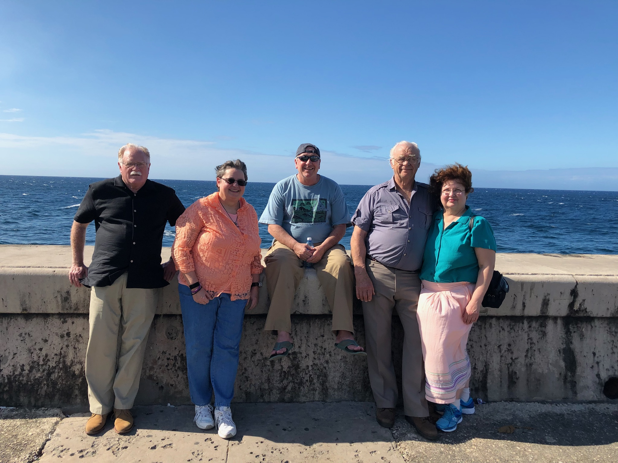 The Team on the Malecon