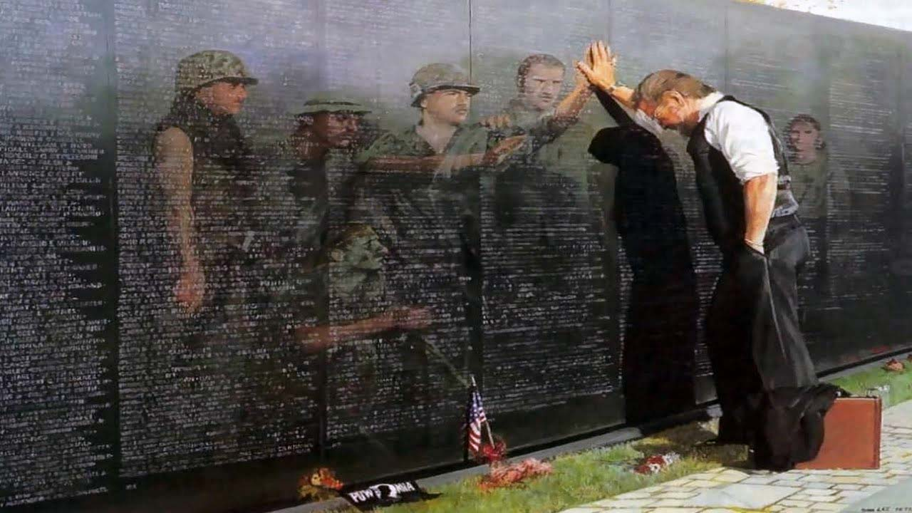 Vietnam Reflections War Memorial Poster Fine Art Print by Lee Teter by Artus