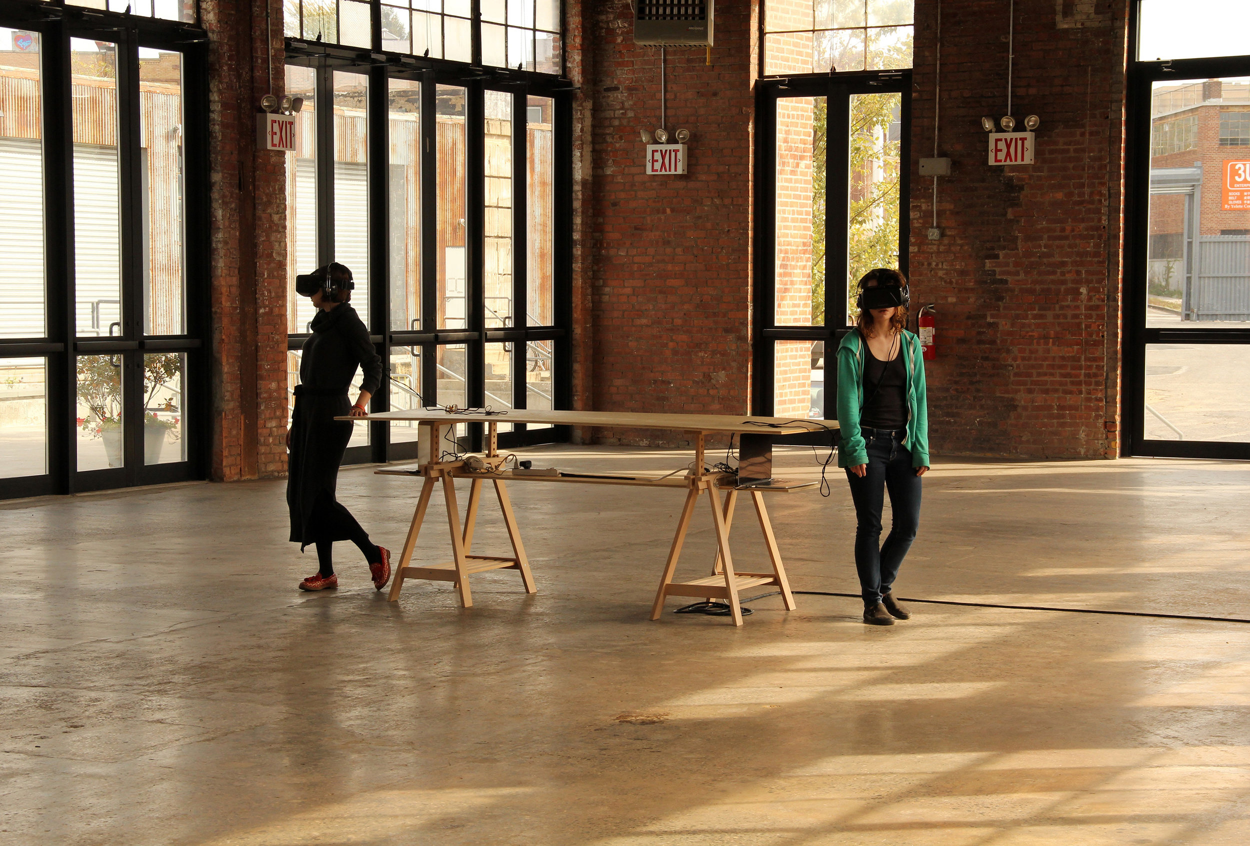 Dérive, Spaces Under Scrutiny, Québec Digital Art in NYC. The Knockdown Center, Queens (NY, USA), 2015.