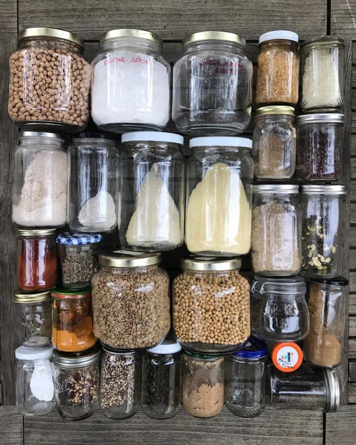 Replace plastic packets and shakers and store your spices in refillable glass jars