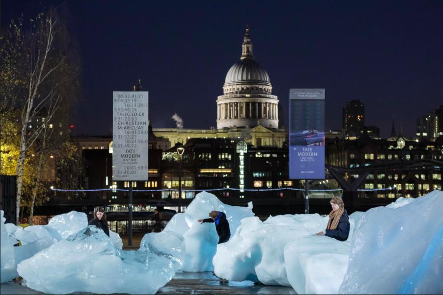 Ice Watch , 2014. Olafur Eliasson and Minik Rosing, outside Tate Modern, 2018. © 2019  Olafur Eliasson and Minik Rosing