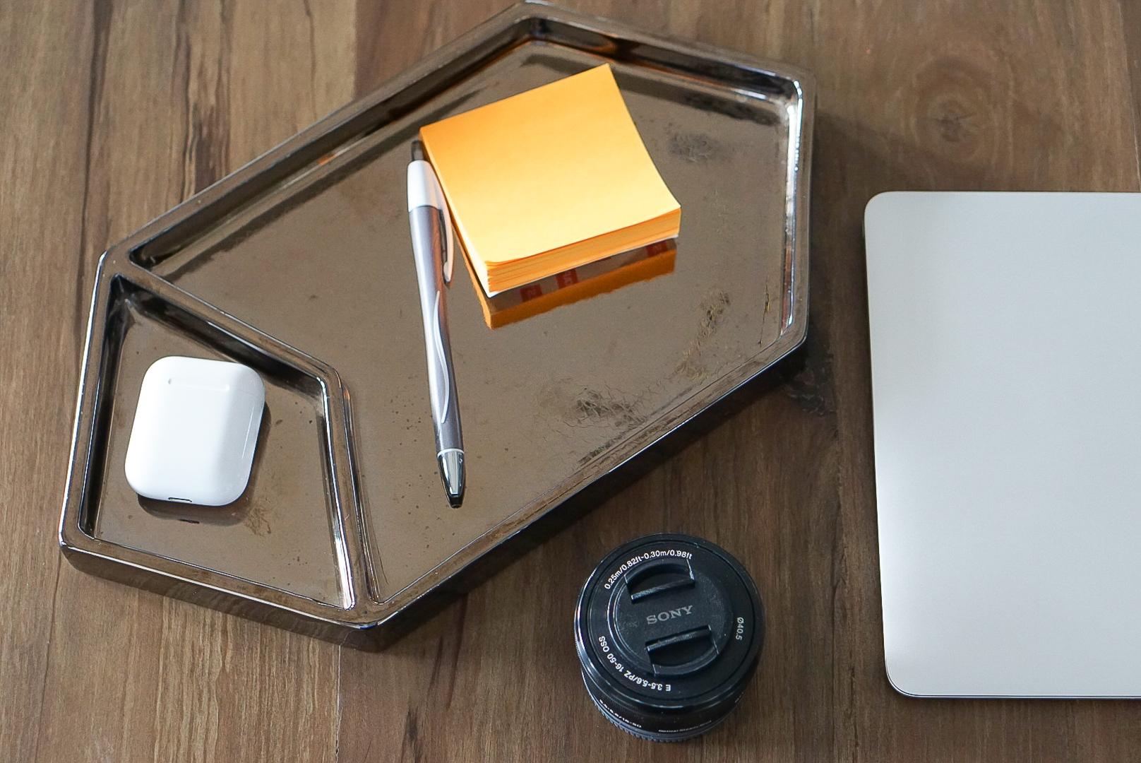 Metallic Desk Organizer