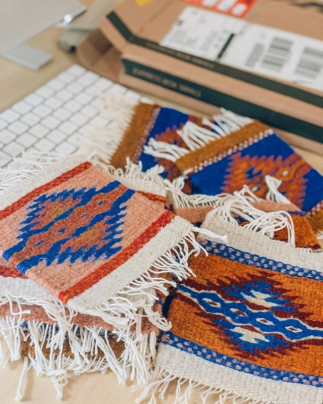 Just in from Mexico! 🇲🇽 We're so excited to add these beautiful hand-woven coasters to our catalog! Completely customizable and such an easy gift.  Contact us for wholesale, business/event gifting, and white label inquiries 👉 info@fairkind.com