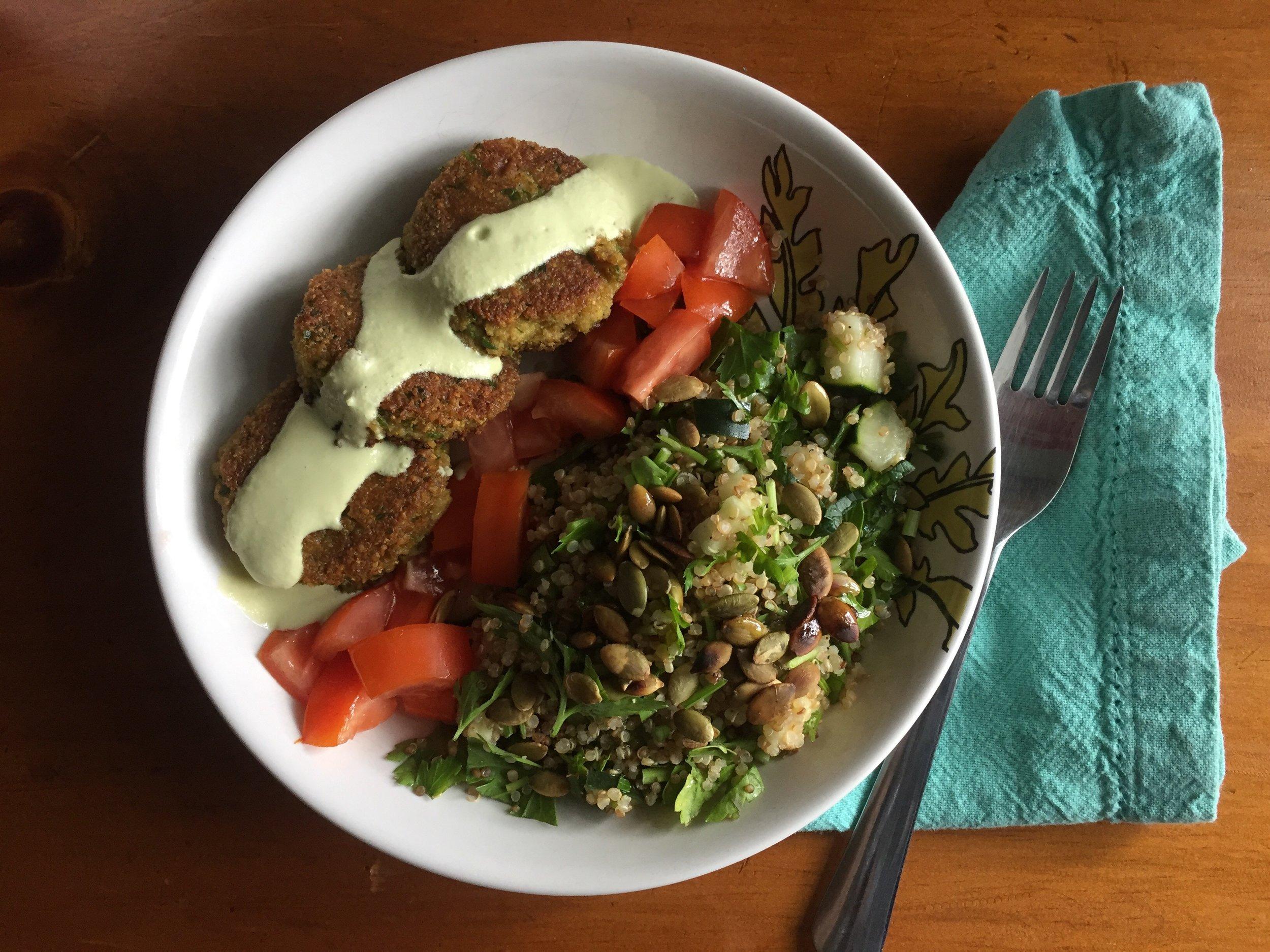 falafel + tabouleh