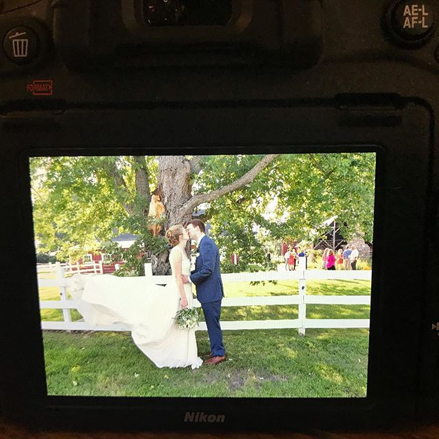 We had an AMAZING day for Holly & Brad's wedding at @redeemedfarm ! Here's a sneak peak from my camera (and the double cameras i've been shooting with all day)! I live for days like this 📷
