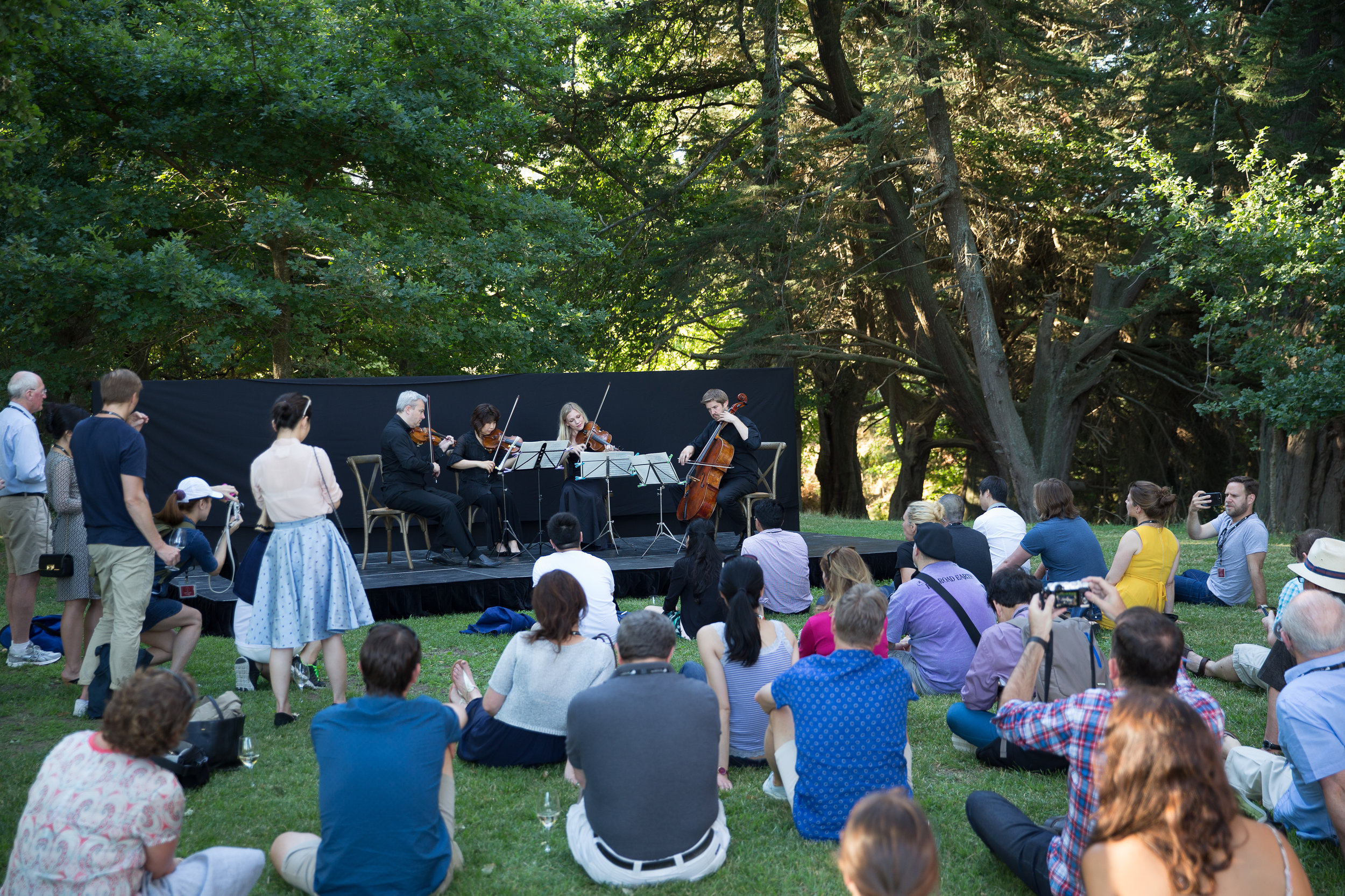 new zealand symphony orchestra quartet at craggy range winery   CLIENT New zealand Winegrowers Inc.