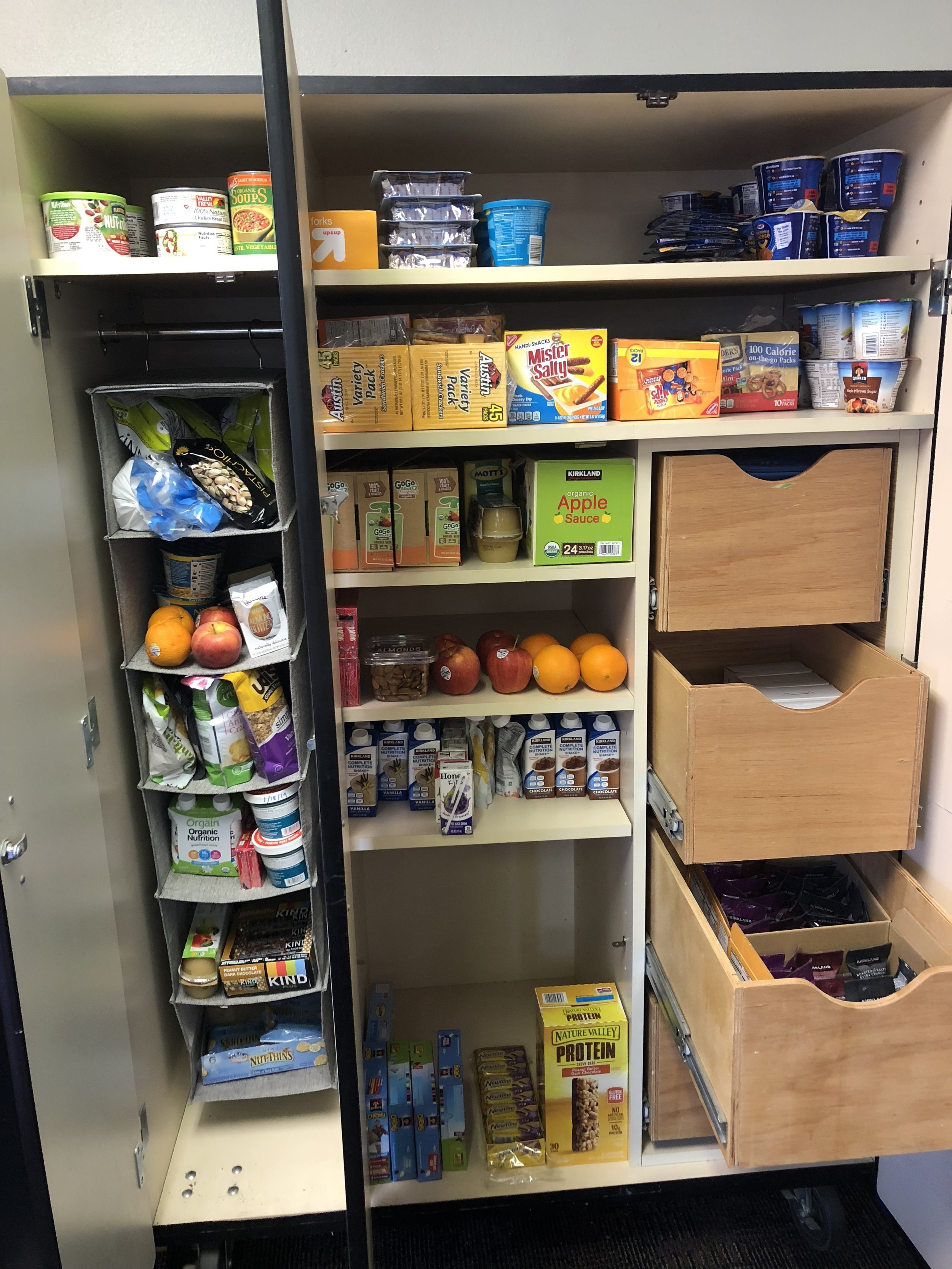 Student food pantry at A. Montoya Elementary.