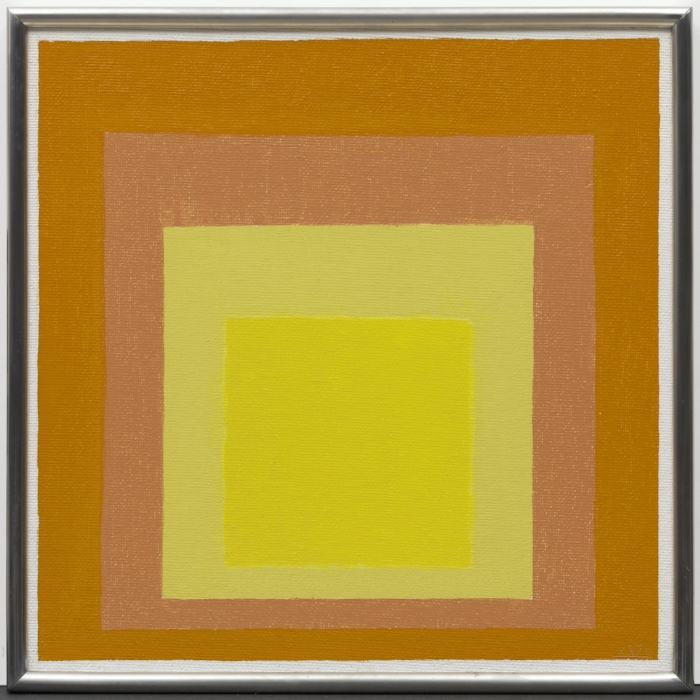 Josef Albers  Study for Homage to the Square: Consent , 1947 Oil on Masonite, 40.3 × 40.2 cm Solomon R. Guggenheim Museum, New York, Gift, The Josef Albers Foundation, Inc., 1991 © 2017 The Josef and Anni Albers Foundation/Artists Rights Society (ARS), New York