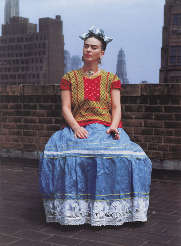 Nickolas Muray (American, born Hungary, 1892–1965).  Frida in New York , 1946; printed 2006. Carbon pigment print, image: 14 x 11 in. (35.6 x 27.9 cm). Brooklyn Museum; Emily Winthrop Miles Fund, 2010.80. © Nickolas Muray Photo Archives. (Photo: Brooklyn Museum)