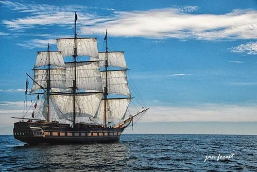 SSV  Oliver Hazard Perry  under sail. (Credit Jan Forest)  Available for download in high resolution by clicking the photo