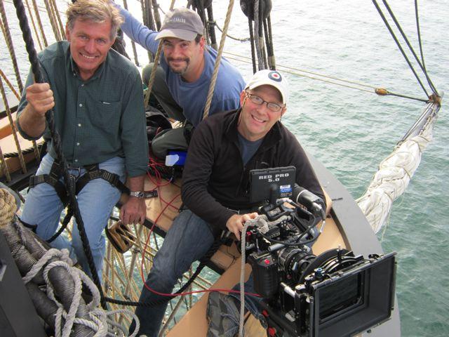 David Clark and his crew aloft on Niagra