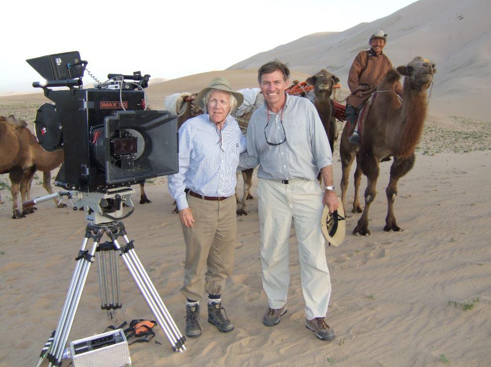 David Clark filming in Mongolia