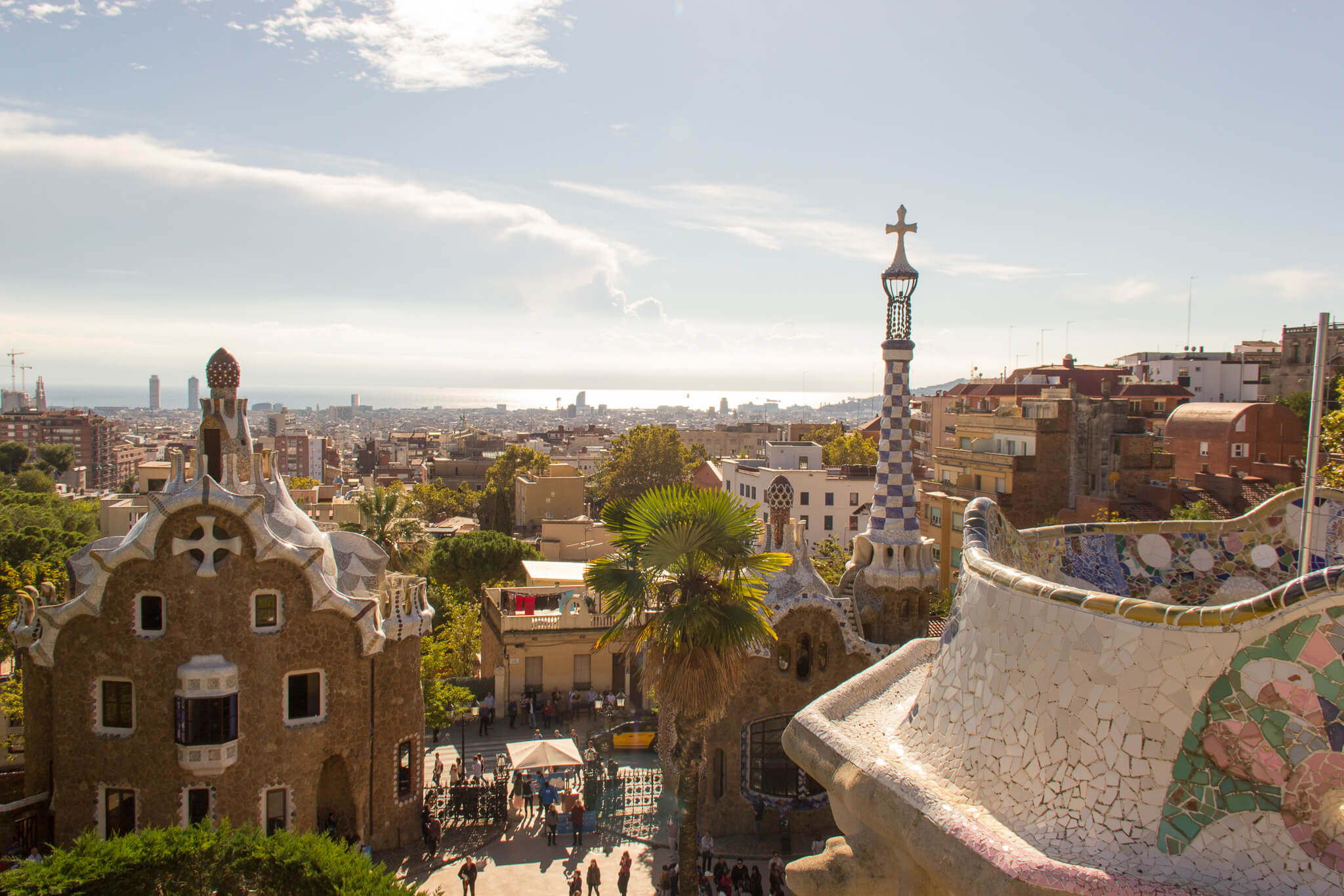 park guell rooftop barca