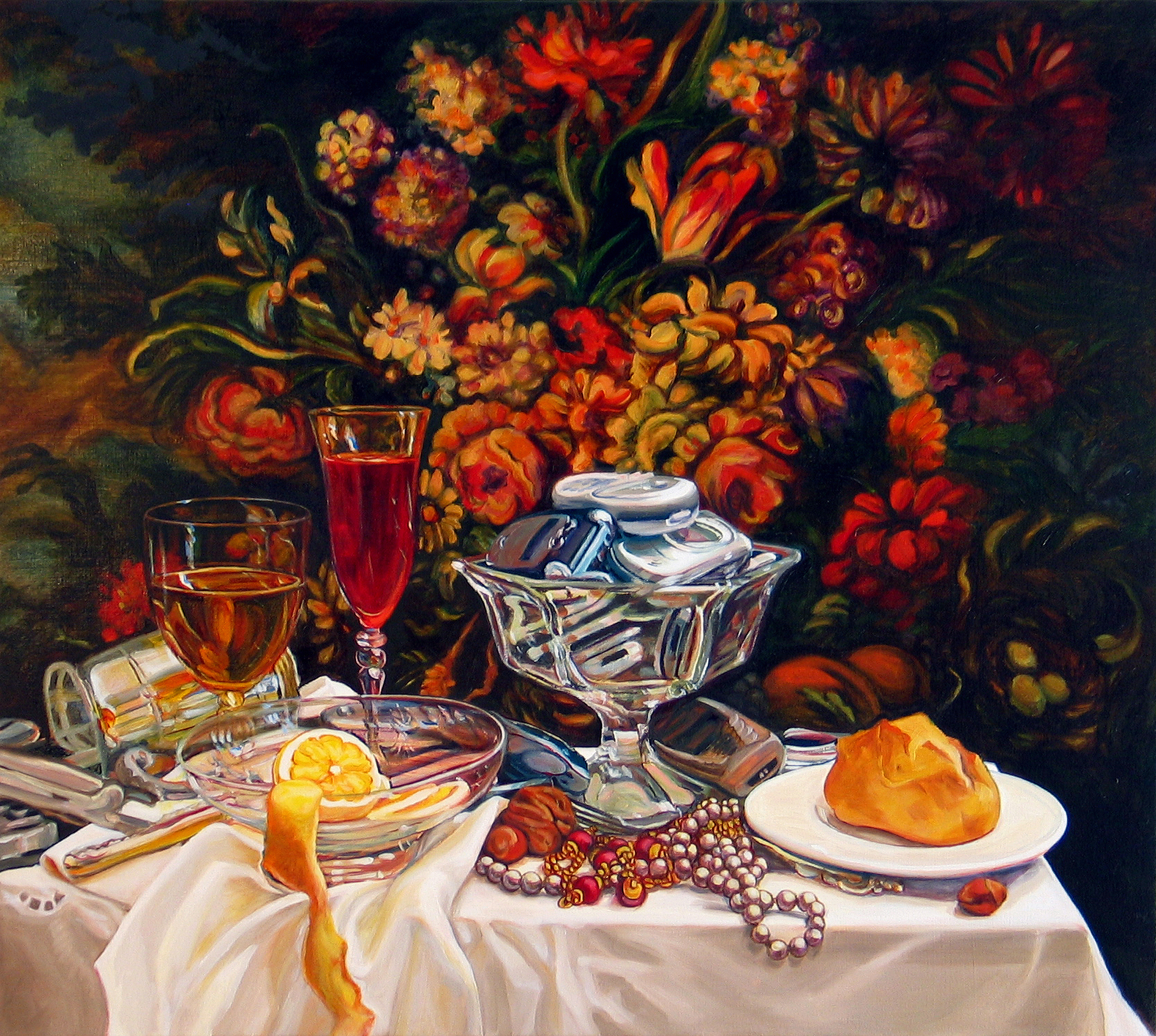 "Bounty © 2009 Oil on canvas 25 x 28"""