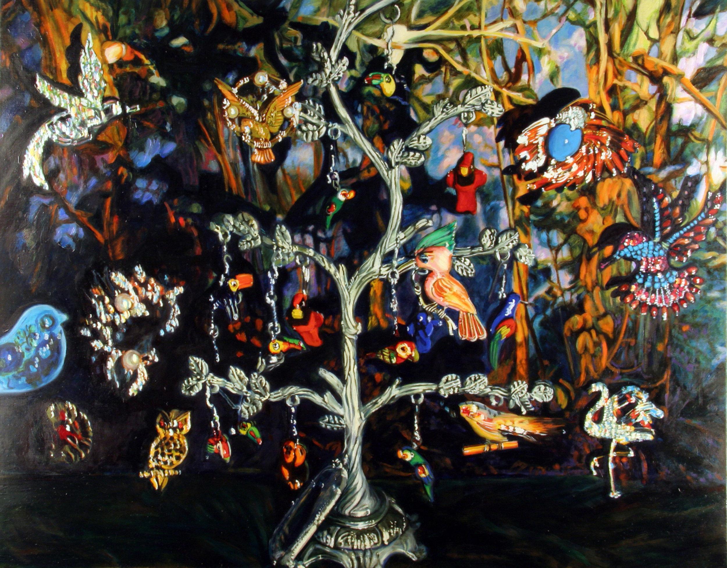 "Concert of Birds © 2010 Oil on linen 22 x 28"""