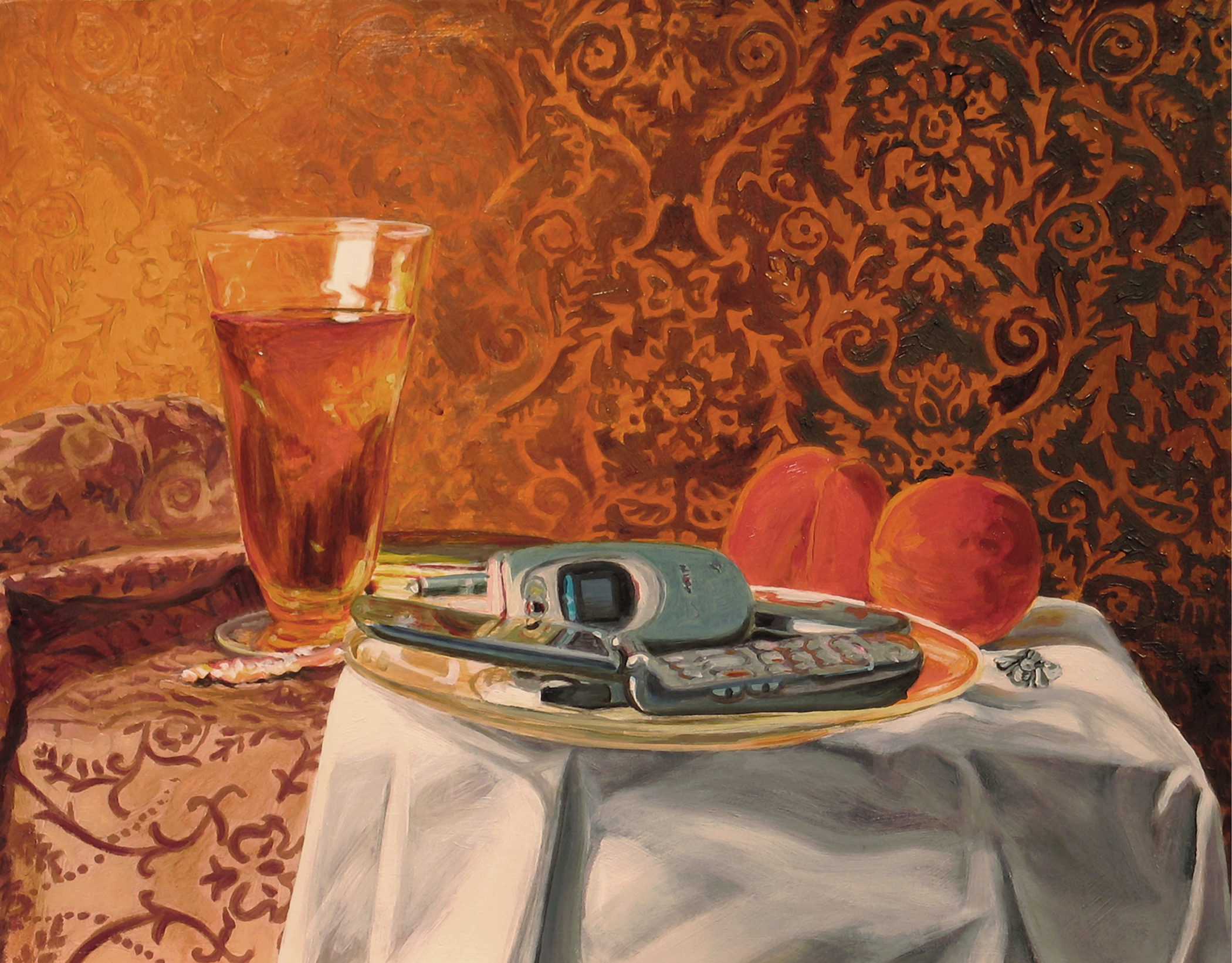"""House of Orange © 2008 Oil on linen 12 x 15"""""""