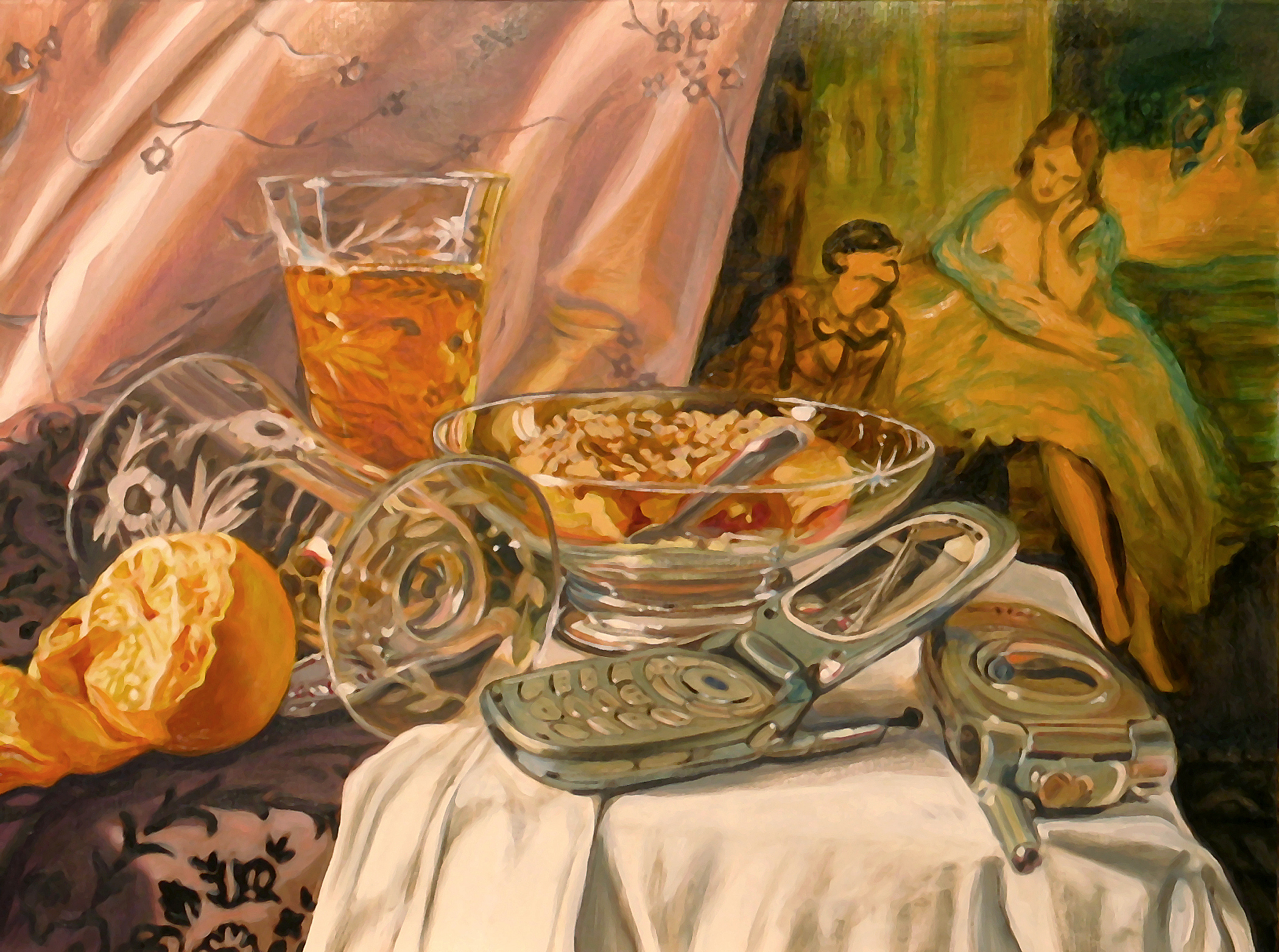 Still Life with Spoon and Tart © 2008 Oil on linen 12 x 16""