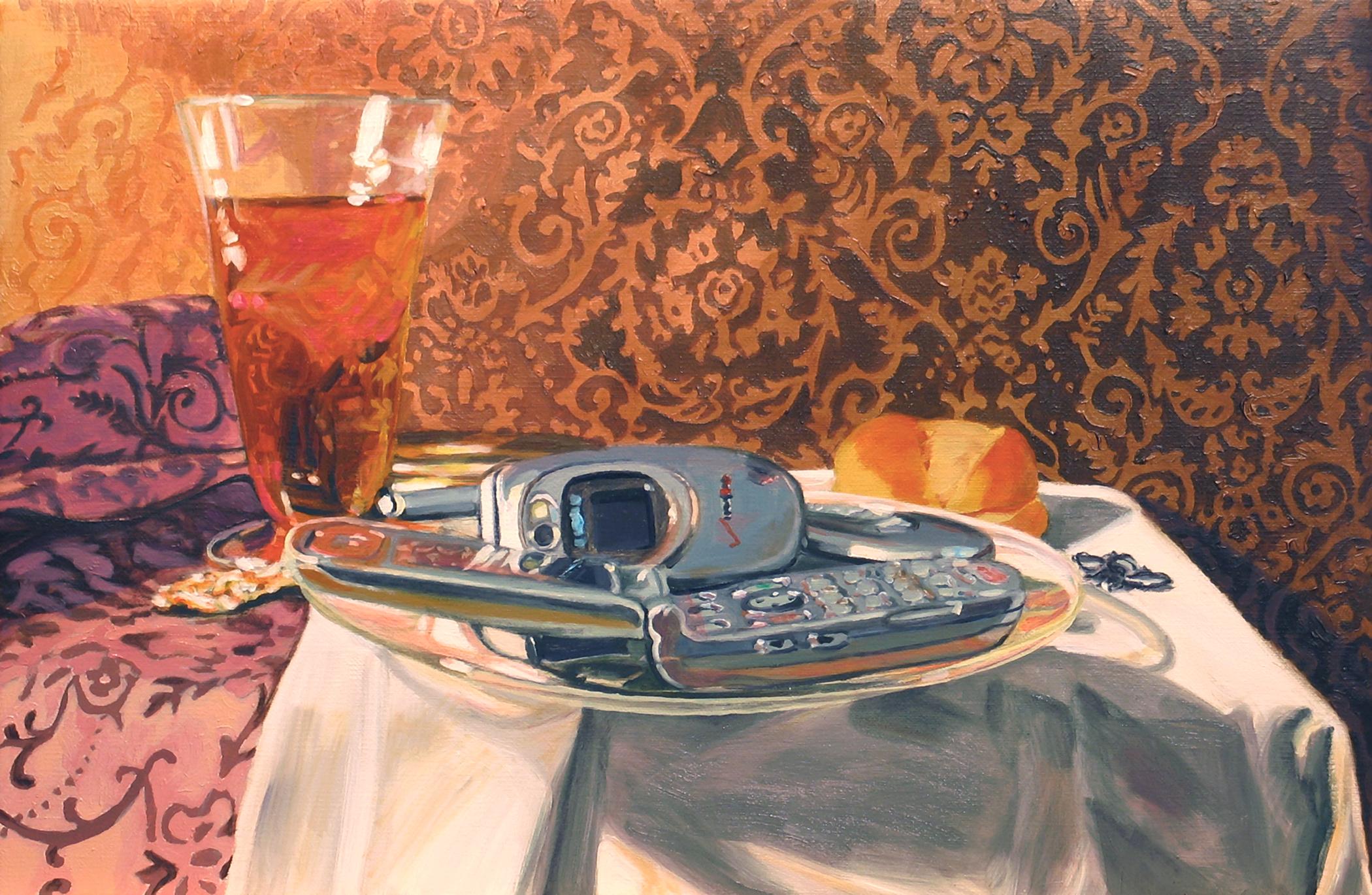 """Little Breakfast © 2008 Oil on linen 8 x 12"""""""