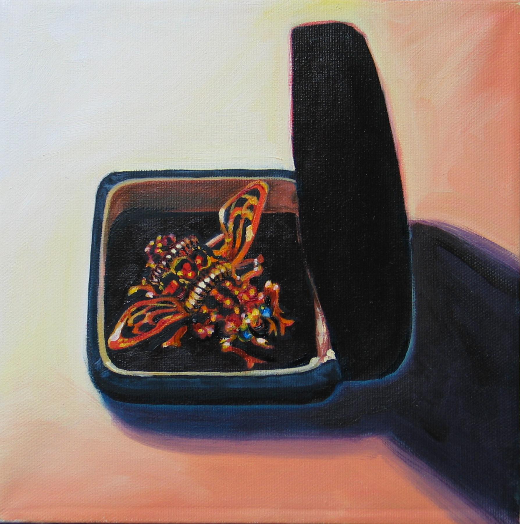 "Arthropoda © 2007 Oil on canvas 8 x 8"""