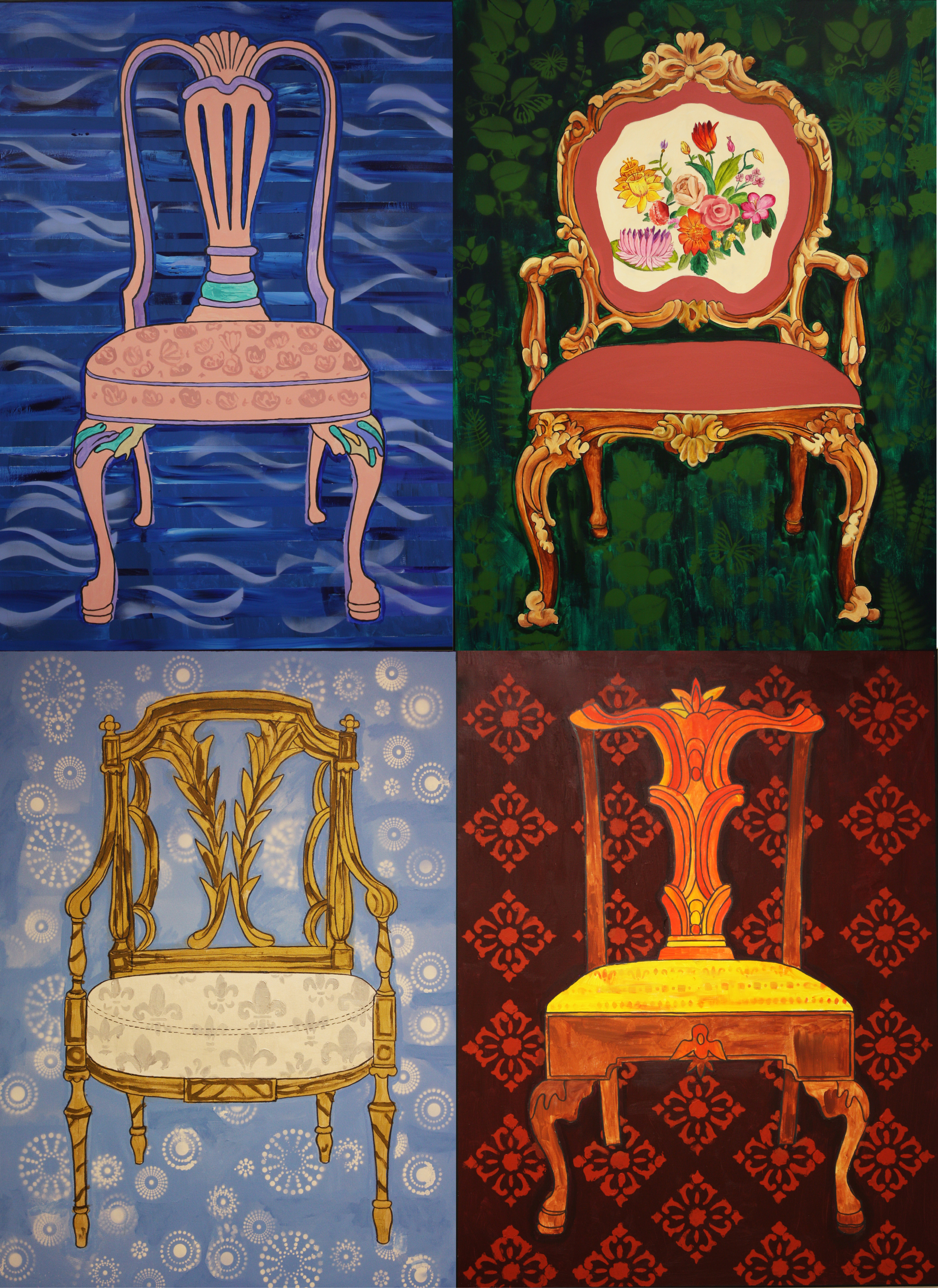 """Dialogue of Four Chairs,""© 2014 Lisa Ficarelli-Halpern"